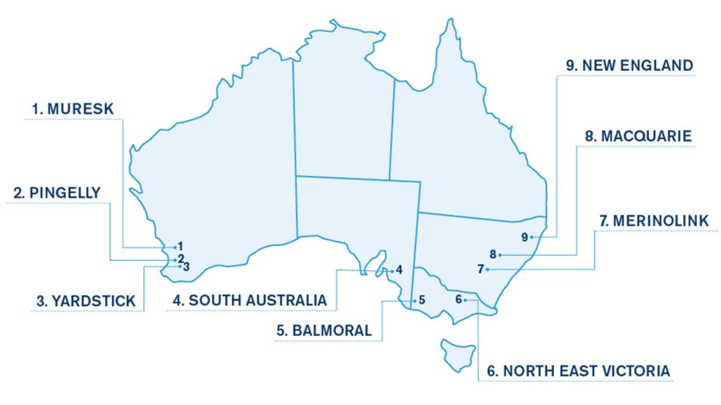 Evaluation Sites Map | Merino Superior Sires